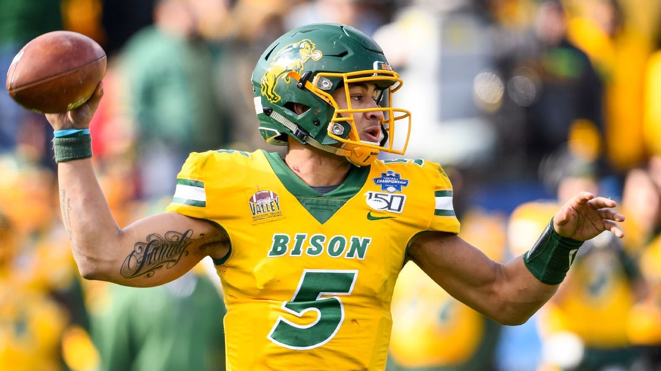 After lone fall game, North Dakota State QB Trey Lance elects to skip spring season, enter NFL draft