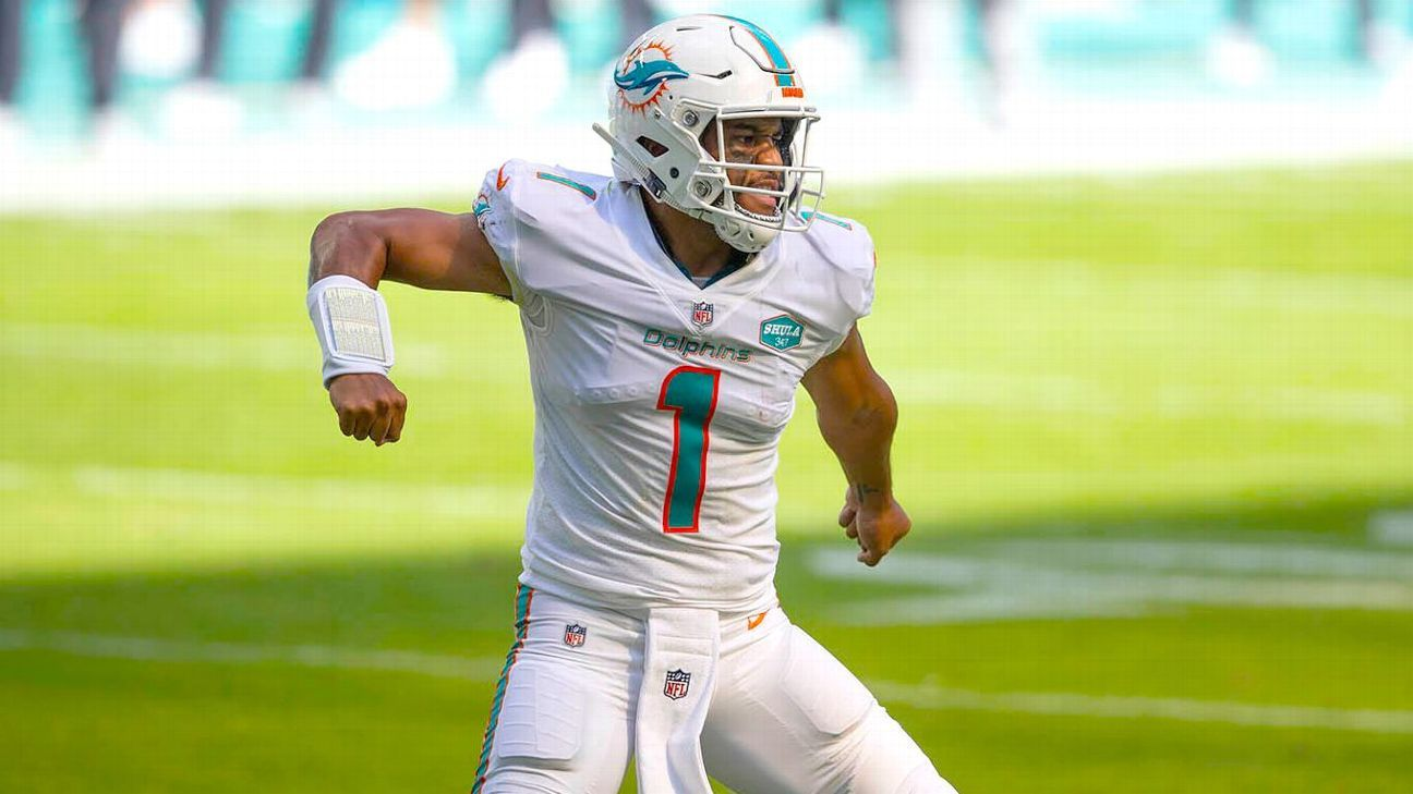 Miami Dolphins' defense steals show as Tua Tagovailoa wins debut against Los Angeles Rams