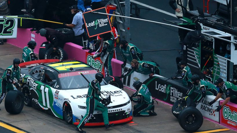 Positive COVID-19 test will result in new pit crew for Justin Haley in Xfinity title race