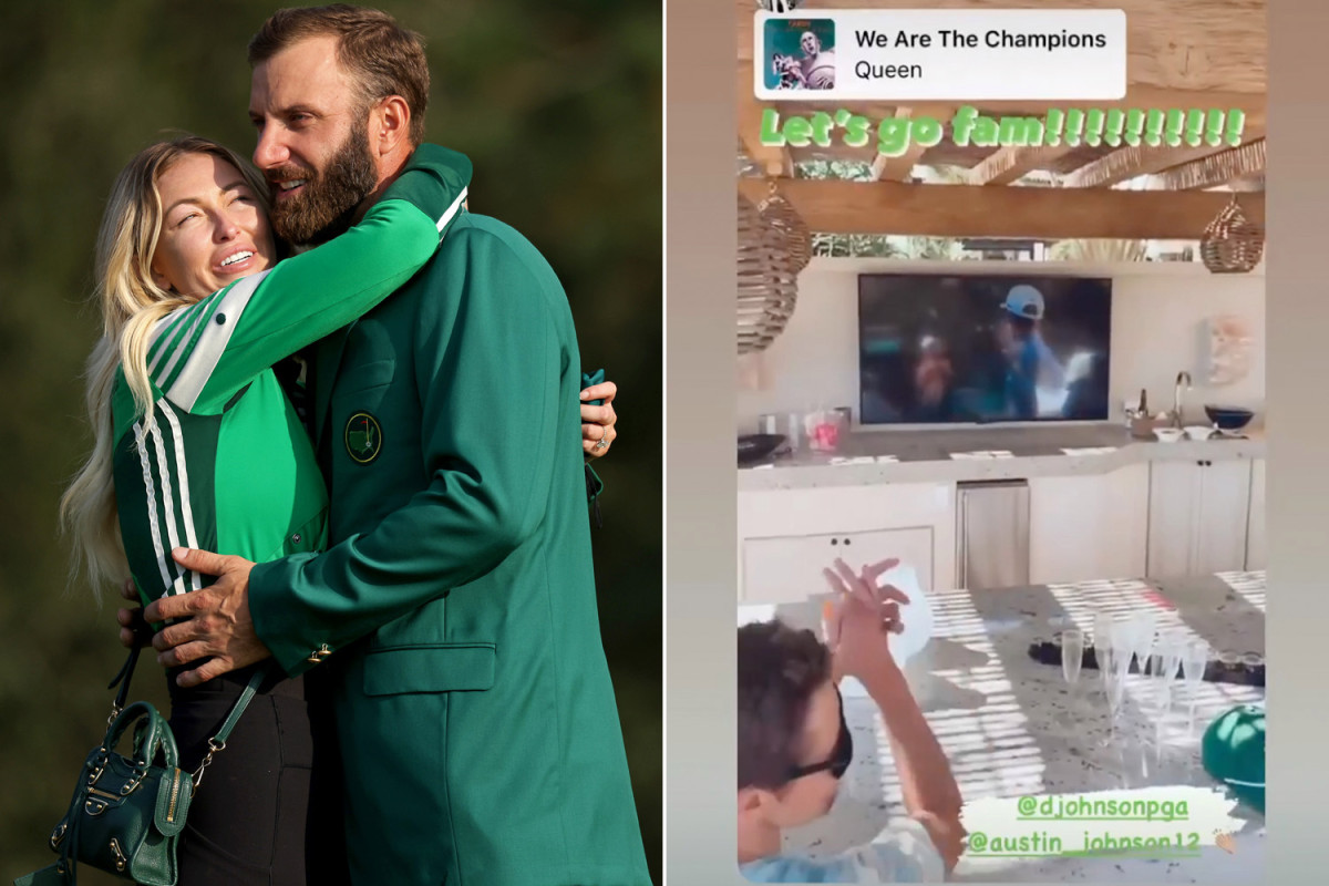 How the Gretzkys celebrated Dustin Johnson's epic Masters win