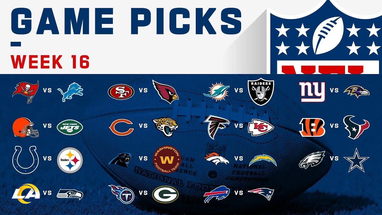 Week 16 Game Picks! | NFL 2020