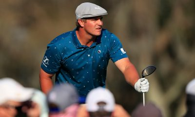 Six packed: They came to watch Bryson DeChambeau drive a par 5, they might see him win instead