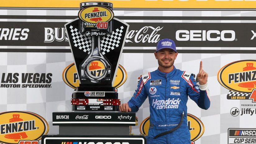 Kyle Larson scores first win with Hendrick Motorsports at Las Vegas