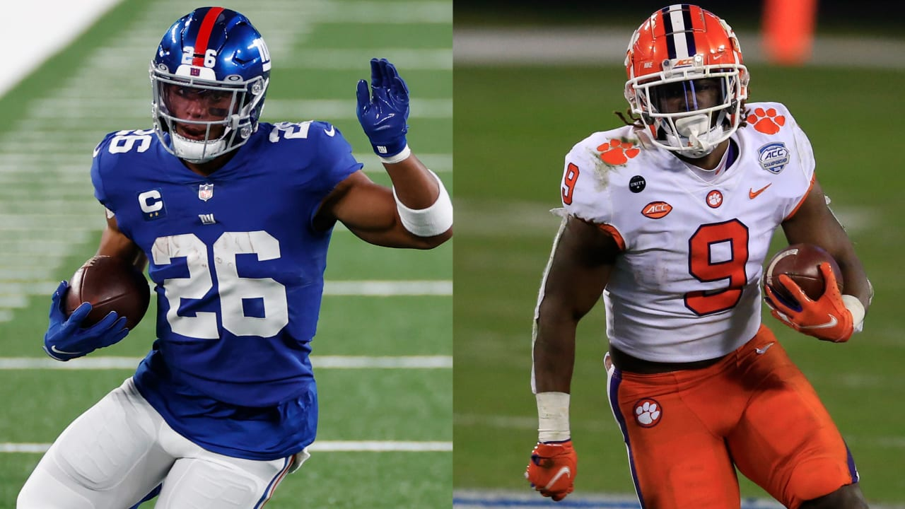 Saquon Barkley, Baker Mayfield among interesting fifth-year option decisions; Travis Etienne team fits