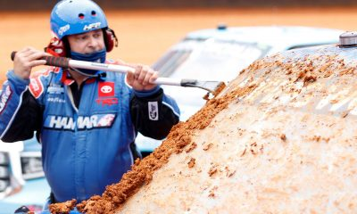 NASCAR's dirt race at Bristol postponed after flooding turns clay-coated oval into mud pit