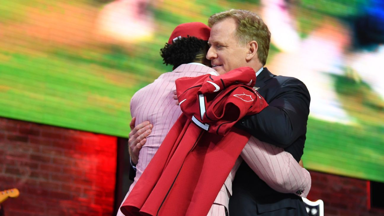 NFL draft night hugs: Goodell fully vaccinated, given OK for hands-on approach