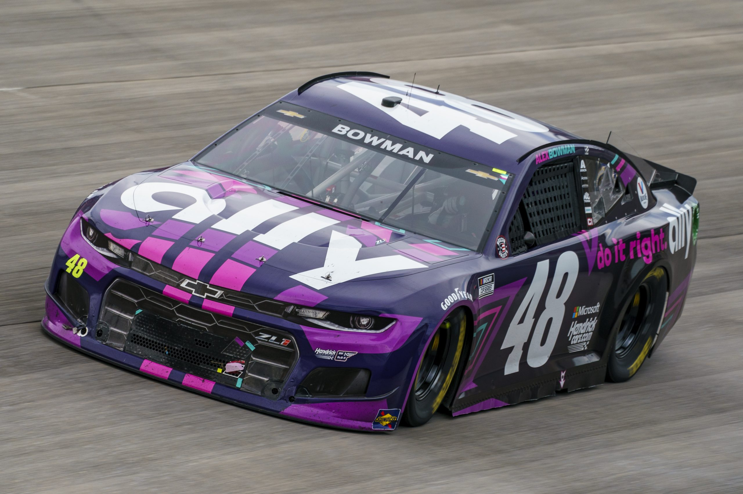 Alex Bowman's car catches fire after NASCAR Dover win