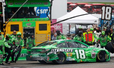 Rain leads to early crash for Kyle Busch, Truex Jr., Hamlin at New Hampshire