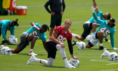 Miami Dolphins tight ends Mike Gesicki, Cethan Carter, Adam Shaheen go on COVID-19 reserve list