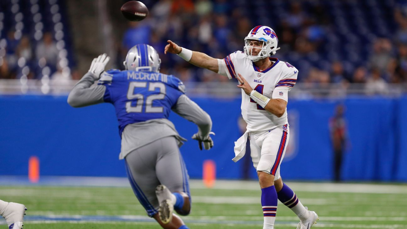 Former emergency QB Jake Fromm orchestrates game-winning drive in NFL debut for Buffalo Bills