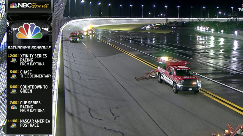 Daytona Xfinity race to resume Saturday