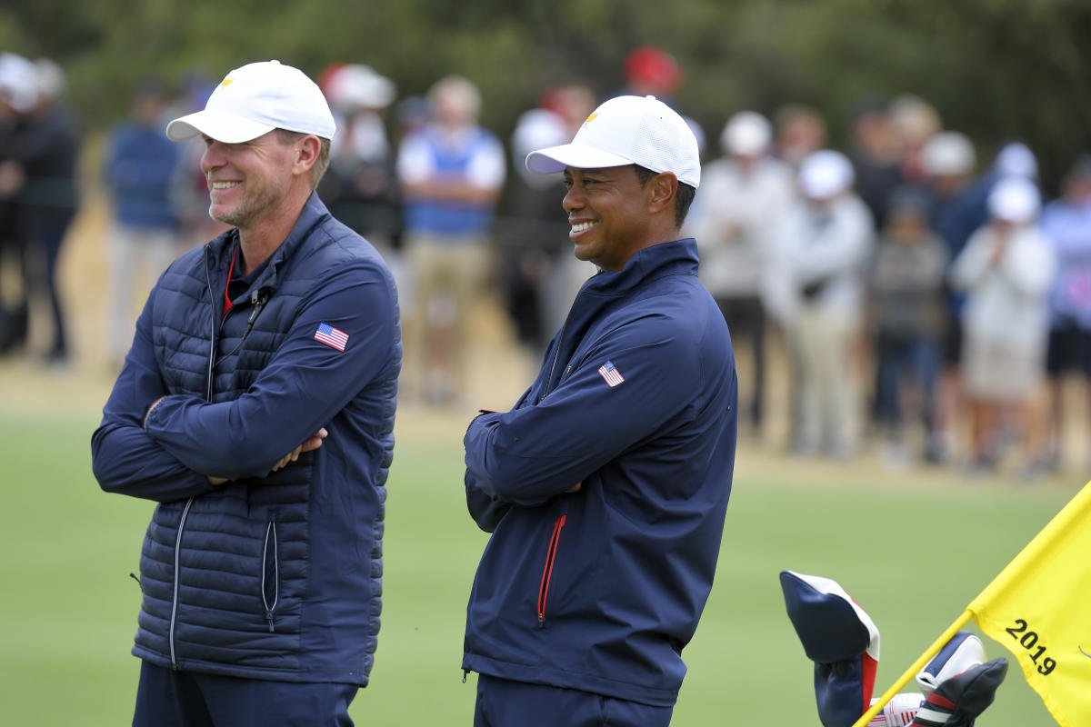 Tiger Woods won't participate in Ryder Cup, but U.S. captain says road back to golf is 'going well'
