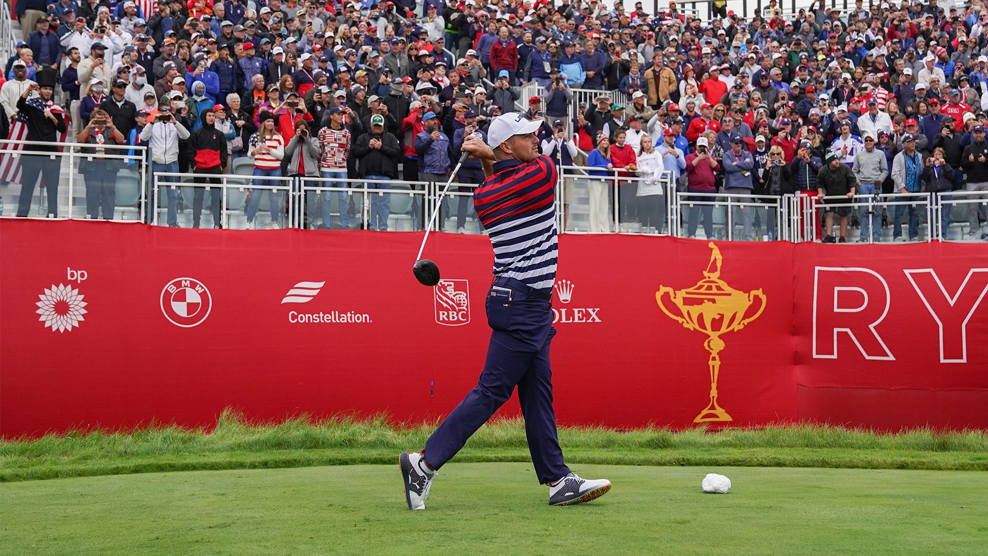 2020 Ryder Cup: Bryson DeChambeau calls opening tee shot like Babe Ruth, almost drives it on green