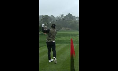 """""""Golf is hard"""" errant tee shot moments"""